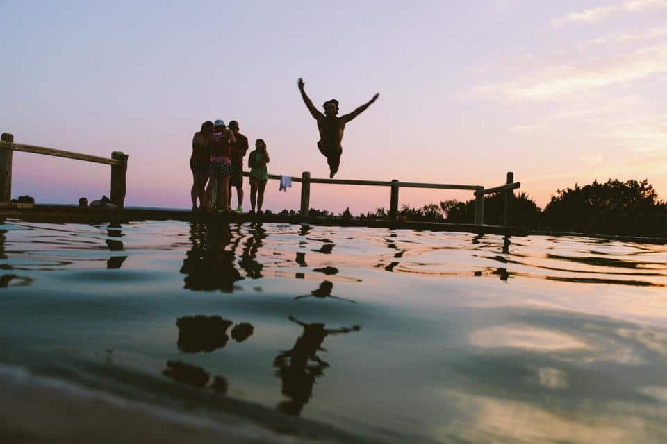Summer vacation swimming