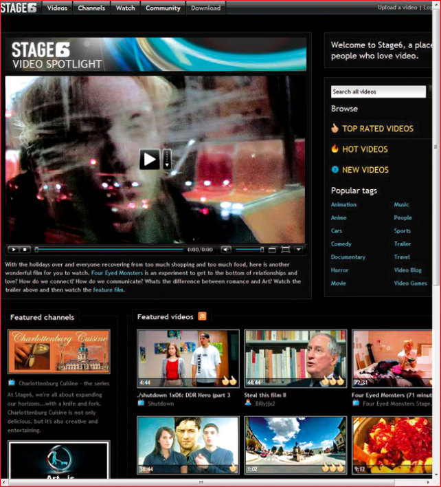 Stage6 website