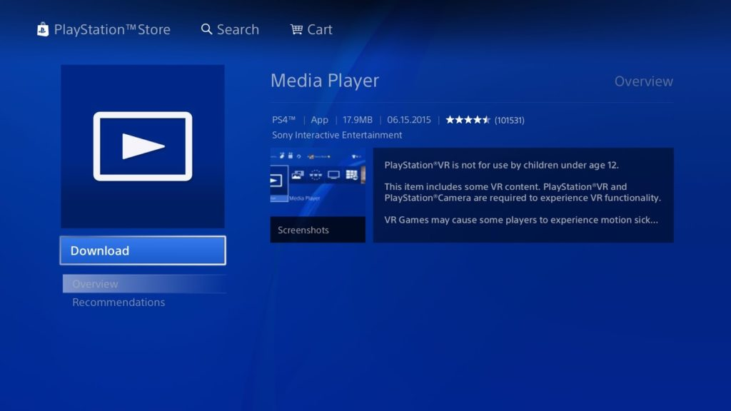 PS4 streaming with DivX Media Server